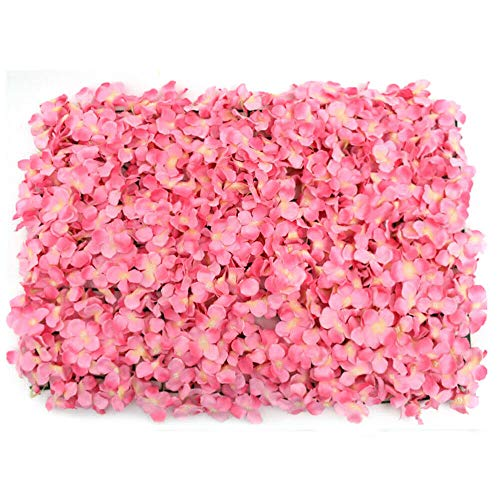 20 Pieces Pink Artificial Flowers Wall Romantic Flower Wall For Background Decoration Silk Flower Hydrangea Wall Panel Hanging Wedding Venue Main Road Decor Silk Flower Panels for Photo Backdrop Decor