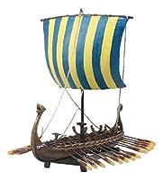 Ebros Scandinavian Viking Norseman Dragon Longship Model Statue With Base Stand War Vessel Battle Ship Prototype Sculpture Figurine