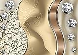 wandmotiv24 Fototapete elegante Diamanten abstrakt XXL 400 x 280 cm - 8 Teile Fototapeten, Wandbild, Motivtapeten, Vlies-Tapeten Edelsteine M0528