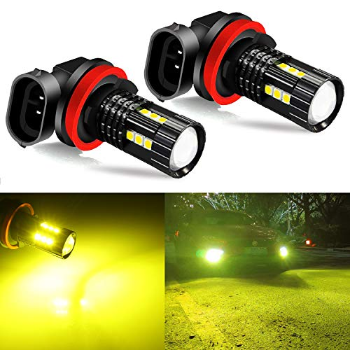 JDM ASTAR Super Bright 3030-15SMD 360 Beam H11 H16 Golden Yellow Led Fog Light Bulbs With Projector