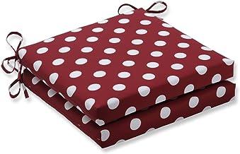 50,8 x 50,8 x 7,6 cm. Almofada de assento quadrada de bolinhas para ambientes externos e internos 44; Vermelho - Conjunto ...