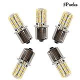 Facon 5Packs 1156 1141 7506 BA15S 12V DC Ampoule de remplacement à LED pour bateau de camping-car RV Light, blanc chaud