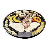 [QUEEN SENSE] CookKing Master Grill Pan, Korean Traditional BBQ Indoor & Outdoor Nonstick Cast Aluminum Plate Made in Korea