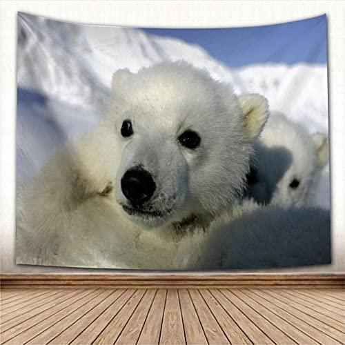Wonner Animal Polar Oso Pared Tapiz Decoración Casera Pared Alfombra Rectangular Moderno Impresión Tela De Yoga Tapete Tapete De Tapete Nuevo 59x90inch Polyester