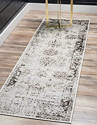 Unique Loom 3134034 Sofia Collection Traditional Vintage Beige Area Rug (4' 0 x 6' 0), Rectangle