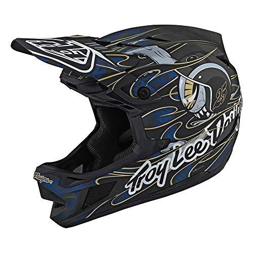 Troy Lee Designs Adult | Limited Edition | BMX | Downhill Mountain Bike D4 Carbon Eyeball Helmet (Blue, XL)
