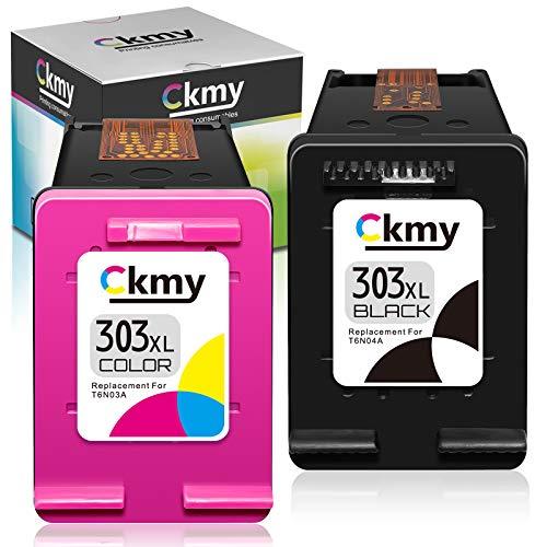 CKMY Cartouche Compatible avec HP 303 303XL Cartouche d'encre Multipack, pour HP Tango, Tango X, Envy Photo 6220 6230 6232 6234 7130 7134 7830 (1 Noir, 1 Couleur)