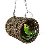 Yunt - nido a tunnel in erba naturale per uccelli, criceti, pappagallini, calopsita, inseparabili