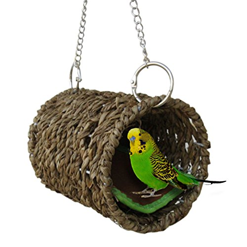 Yunt Vogel Nest Natürliche Gras Tunnel Schlafplatz für Hamster Sittiche Nymphensittiche Unzertrennliche