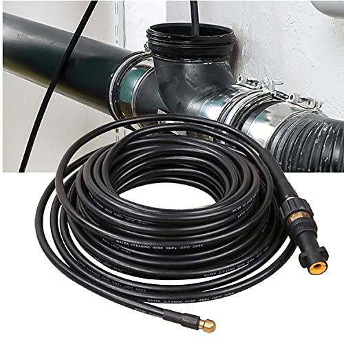 Faziango Rohrreinigungsschlauch 20m 180bar 60°C Rohrreiniger für Kärcher Anschluss Bajonett Rohrreinigungsset inkl. Adapter und düse für Hochdruckreiniger