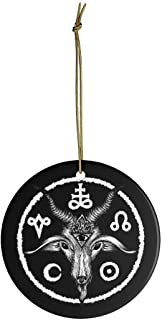 AprilLove Baphomet Tree Ornaments. Pagan Holiday Decoration. Occult Halloween Charm. Satanic Christmas Bauble. Krampus Spooky Tree Charm. Witchy Decor