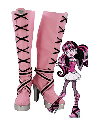 Telacos Botas para cosplay Monster High Draculaura, hechas a medida, 7.5 B(M) US Female, Rosado