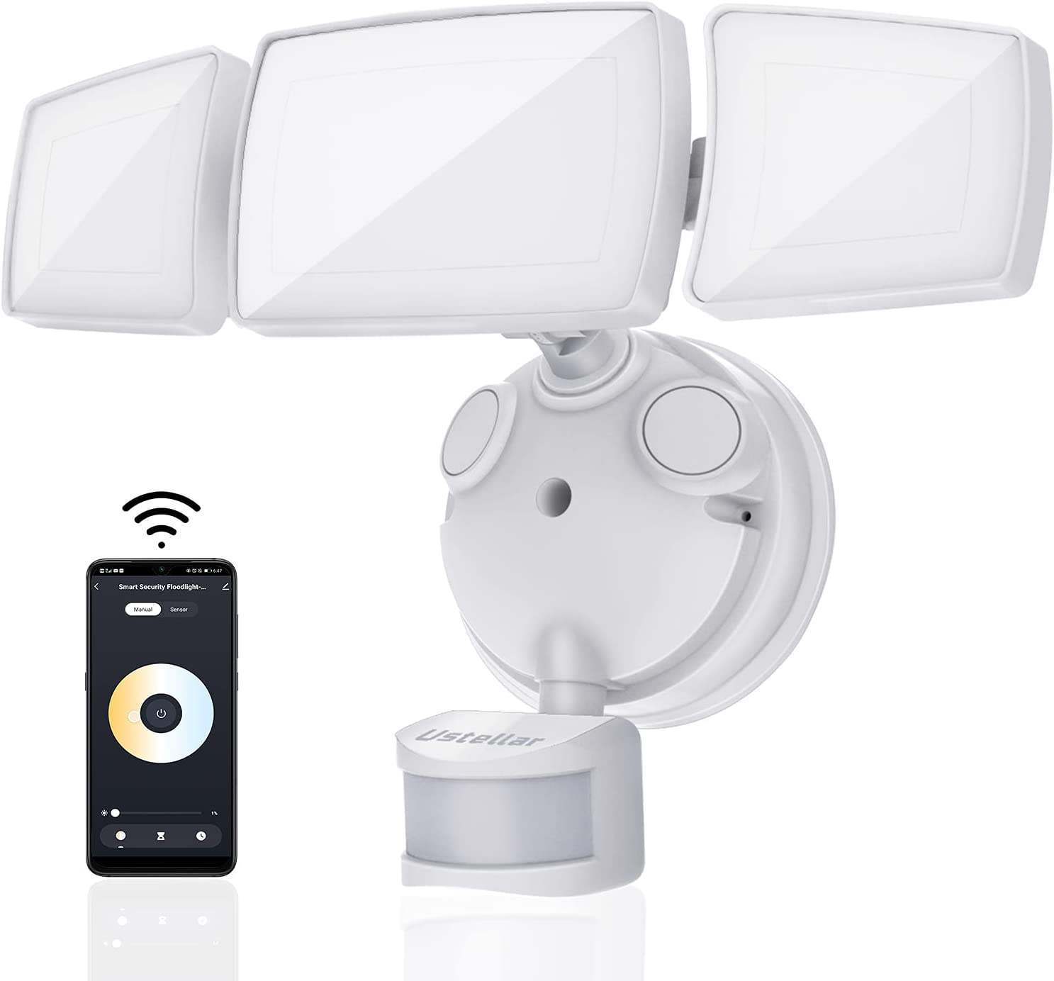 Ustellar 50W Smart Outdoor LED 2700 White Security Tunable Light Topics Max 50% OFF on TV