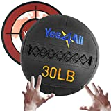 Yes4All 30 lb Wall Ball - Soft Medicine Ball/Wall Medicine Ball for Full Body Dynamic Exercises
