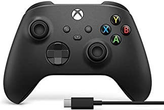 Xbox Series Black Wireless Controller with Cable for PC Windows