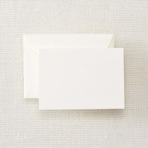 Crane & Co. Pearl White Enclosure / Escort Card & Envelope