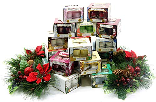 3 x Boxes Official Yankee Festive Season Christmas Tea Lights Assorted Fragrances Total 36 Candles