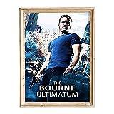 FANART369 Póster de The Bourne Ultimatum #2, tamaño A3, diseño de fanart original para pared, 29,7 x 42 cm, sin bordes
