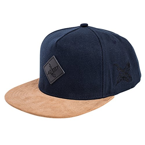 Blackskies Blackskies Port Snapback Cap Unisex Baseball Mütze Kappe Wildleder Schwarz Burgundy Beige Suede, Port Royale, Einheitsgröße