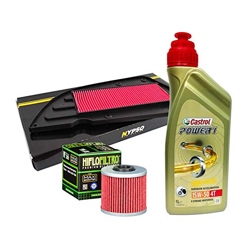 Kit revisión Castrol Power 1 15W50 filtro aceite aire Kymco K-XCT IE 125/300