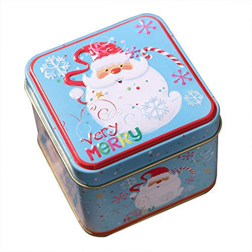 Haptian schattig bedrukte opbergdoos kerst Tin snoep koekje mini-geschenkdozen thee munt container case organizer bruiloft decoratie thuis accessoires