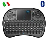 Rii Mini i8 Bluetooth (Layout Italiano) - Mini Tastiera con Mouse...