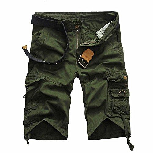 Herren Cargo Shorts Sommer Bermudas Kurze Hose Baumwolle Von Allence