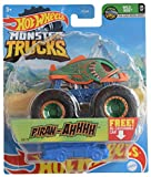DieCast Hotwheels Monster Trucks Piran Ahhhh, Re-Crushable