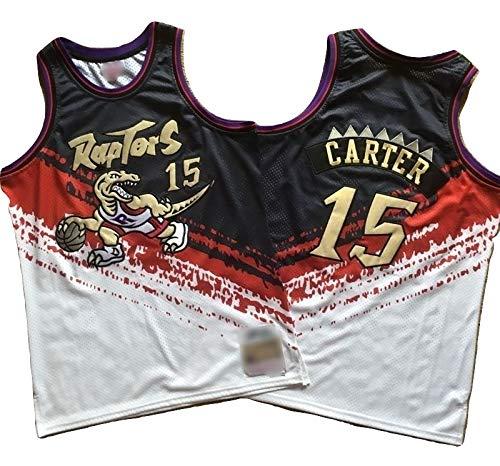 NBA, Toronto Raptors #15 Vince Carter #1 Tracy McGrady ricamato, traspirante e resistente all'usura Maglietta Hardwood Classics (Independence Carter, XL)