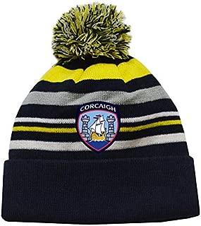 Mc Keever Cork GAA Supporters Beanie Hat - Yellow/Grey/Navy -
