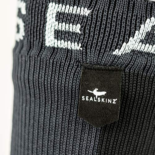 SEALSKINZ 100% Waterproof Sock - Windproof & Breathable - Mid length sock, suitable for walking, camping, hiking in Cold conditions