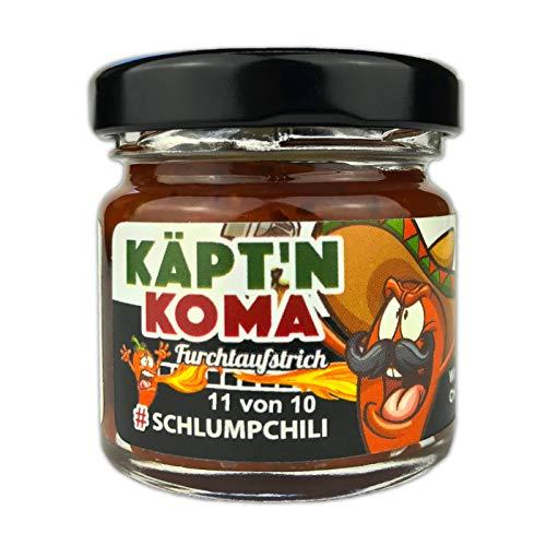 Schlump-Chili⎥KÄPT'N KOMA Paste⎥ultra scharfe Chili Paste⎪mit Carolina Reaper Chilis und Ingwer (1 x 35g)