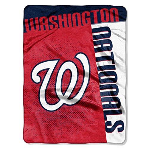 "MLB Washington Nationals ""Strike"" Raschel Throw Blanket, 60"" x 80"""