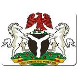 kThrones Antideslizante Alfombra De Baño,Nigeria Escudo de Armas,Alfombra de Cocina Alfombra Mascota,Alfombras de Ducha 80x60cm