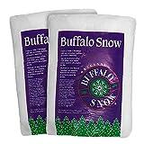 Buffalo Snow Artificial Faux Snow Fluff 100% Polyester 16-Ounces 2-Pack
