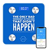 Smart Digital Scale for Weight and Body Fat - Motivational Bluetooth Scale and Body Analyzer- Bathroom Scale for Calculating BMI Water Composition and Body Fat Percentage