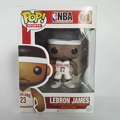 LiQi Funko Pop NBA Basketball Star Adornos Muñeca-Lebron James White # 01