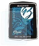 Bruni Película Protectora Compatible con Sigma BC 14.16 Protector Película, Claro Lámina Protectora (2X)