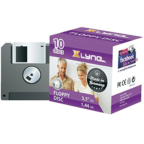 Xlyne Disco 1,44 MB Floppy Disc 10-Pack
