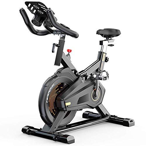 Bicicleta de ciclismo de interior estacionaria - Bicicleta de ciclo con soporte para Ipad y cómodo cojín de asiento,bicicletas silenciosas para el hogar Bicicletas de ejercicio para interiores Bicicle