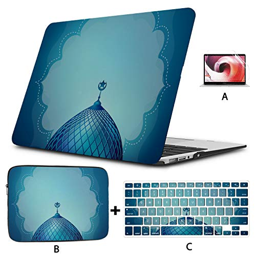 Macbook Air Case 2018 Art Building Design Banner Template Laptop Case Macbook Pro Hard Shell Mac Air 11'/13' Pro 13'/15'/16' With Notebook Sleeve Bag For Macbook 2008-2020 Version