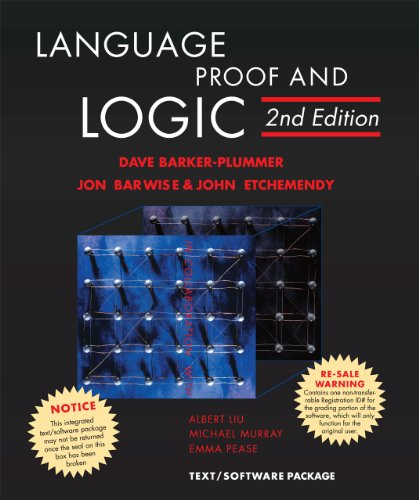 Compare Textbook Prices for Language, Proof and Logic 2nd Edition ISBN 9781575866321 by Barker-Plummer, David,Barwise, Jon,Etchemendy, John