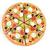 Nikgic 6pcs Corte Juguete Plástico Frutas y Verduras Pizza Juguetes Eeducativos Set - para Niños Desarrollo Educación Alimentos Juguete de Cocina Set Estilo 4