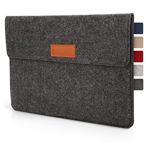 Tablet Tasche Hülle 10.1 - 11 Zoll aus Filz I für Geräte bis zu 28,5 x 19,5cm I Universal für iPad, Samsung, Huawei I iPad Sleeve und Tablet Schutzhülle, Anthrazit