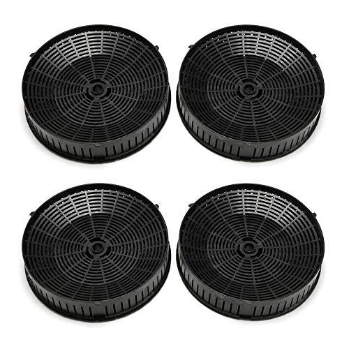 Elica CFC0140343 Aktivkohlefilter für Dunstabzugshauben, schwarz, Stück:2 Paar
