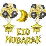 Eid Mubarak Ramadan célébration décoration ballons en Latex, décoration De Festival, accessoires de fête de fête