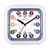 5.5' Analog Alarm Clock for Kids, Telling Time Teaching Design, Silent Non Ticking,Gentle Wake, Increasing Beep Sounds, Battery Operated Snooze and Light Functions