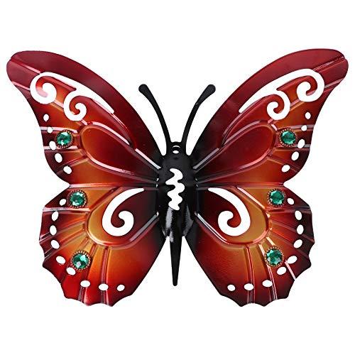 Yardwe Schmetterling Wanddeko 3D Metall Schmetterlinge Eisen Vintage Wanddeko Wohnzimmer Büro Hause Werkstatt Ornament Party Dekoration