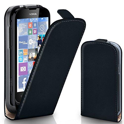 MoEx® Flipcase passend für Nokia Lumia 610   Klapphülle Handytasche mit Rundum Schutz - Handy Hülle Klappbar Flip Case, Schwarz