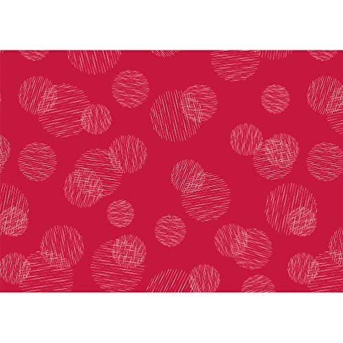 Susy Card 40028736 - Geschenkpapier Rolle Weihnachten, 2 m, Scribbled Circles rot , 1 Stück